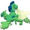 3D Europe Map of GDP